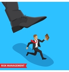 risk management concept vector image