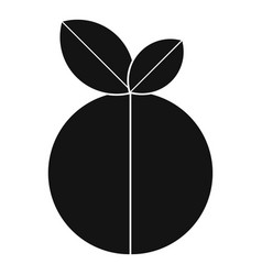 Round apple icon simple style vector