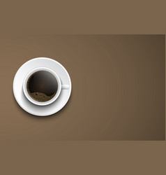 top view of a cup of coffee vector image