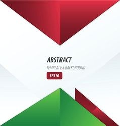 triangle design red and green color vector image vector image