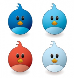 twit bird vector image