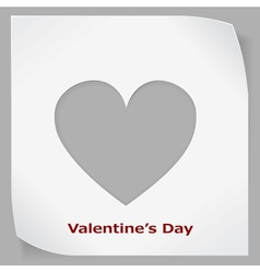 Valentines Day paper sticker vector image