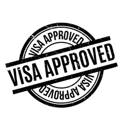 Visa Approved rubber stamp vector image vector image