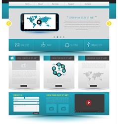Website template design smartphone concept vector