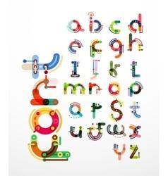 Linear design font alphabet vector image