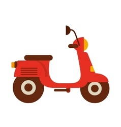 scooter motorcycle isolated icon vector image