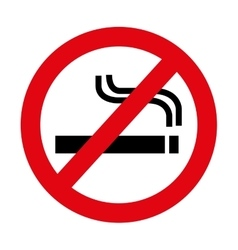 Dont smoke prohibition sign vector
