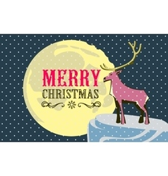Christmas card with a deerme and easily editable vector