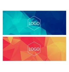 Horisontal polygonal banners vector