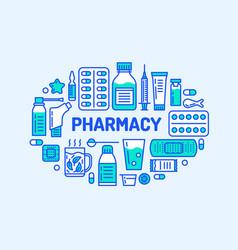 Medical drugstore banner  pharmacy vector