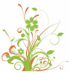 Floral graphic arrangement vector