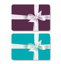 Gift card set vector