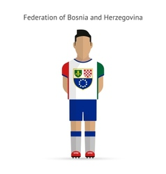 Federation of bosnia and herzegovina football vector