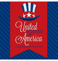 Independance day background vector image