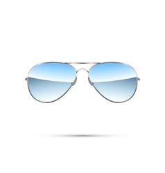Aviator sunglasses isolated on white vector image