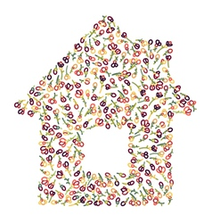 floral house vector image
