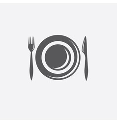 Forkknife and plate design template vector