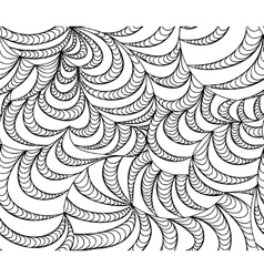 Seamless wave background of doodle drawn vector