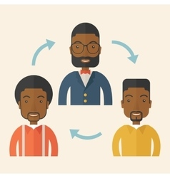 Three young african gentlemen vector