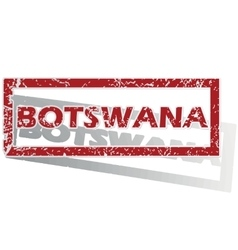 Botswana outlined stamp vector