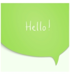 Speech bubble in green color vector