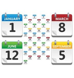 calendar icons vector image