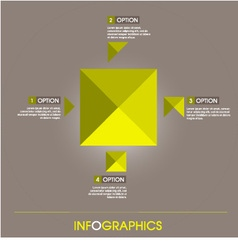 Info graphic elements yellow square design vector