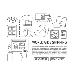 Worldwide shipping and delivery online shopping vector