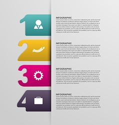 Creative colorful numbered infographic vector