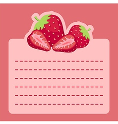 Strawberry memo notes vector