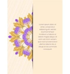 Mandala flower decorative card vector