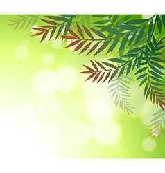 A green stationery with leaves vector