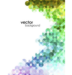 Abstract mosaic modern flyer vector
