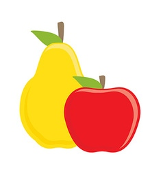 Apple and pear vector image vector image