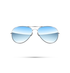 Aviator sunglasses isolated on white vector image