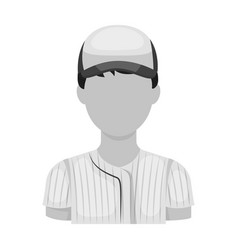 Baseball player baseball single icon in vector