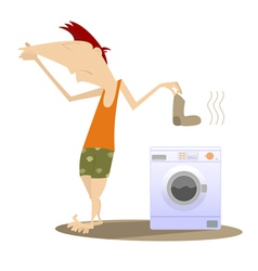 Dirty laundry vector image