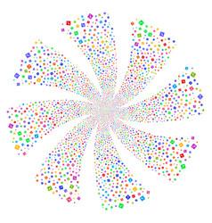 Error fireworks swirl flower vector