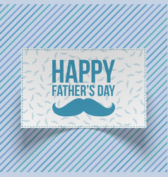 Fathers day realistic blue and white gift card vector