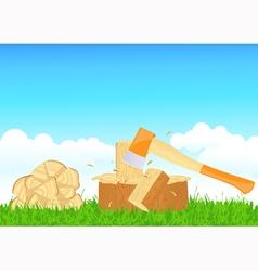 Firewood chop vector image vector image