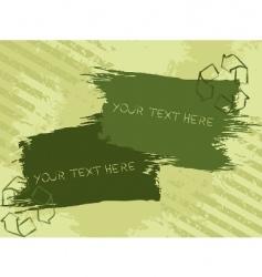 grunge eco banner vector image