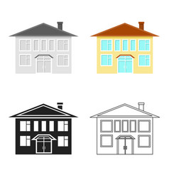 House icon cartoon single building icon from the vector
