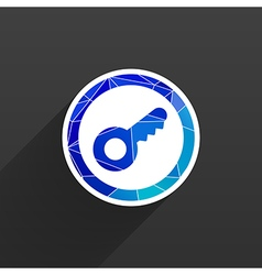 Key icon flat design style vector