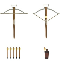 Medieval archer crossbow vector