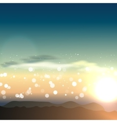 Natural background with sunset in vector image vector image