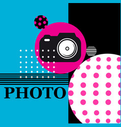 poster sign camera for web design vector image