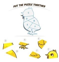 Puzzle game for children chicken vector