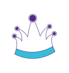 queen crown in color sections silhouette vector image
