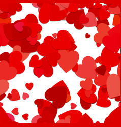 Red seamless heart background pattern vector