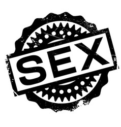 Sex rubber stamp vector